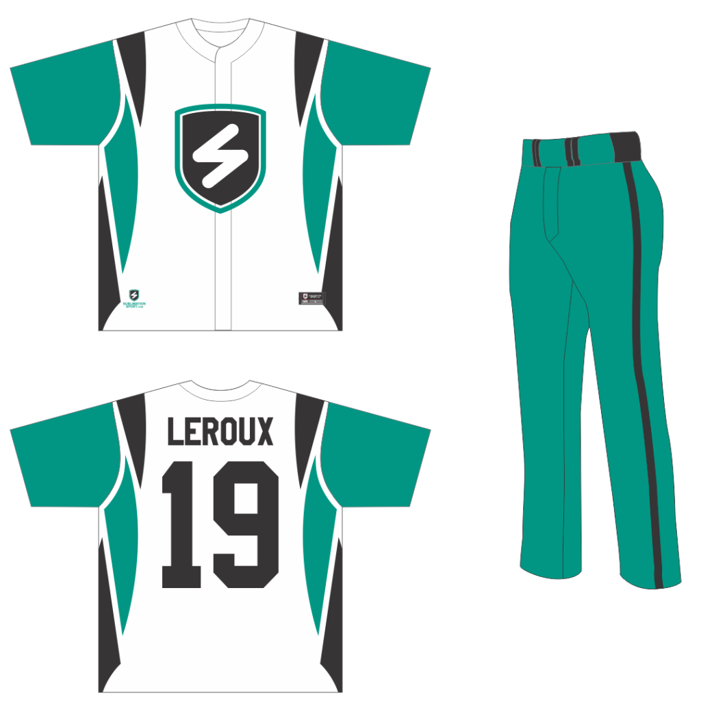Chandail baseball, sublimation
