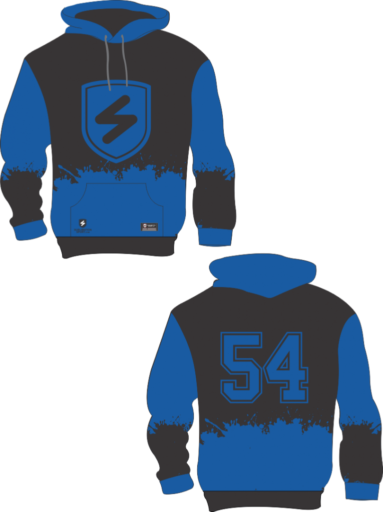 Chandail hoodie, sublimation